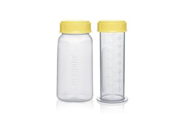 Medela reusable bottles 150ml and 80 ml for collecting